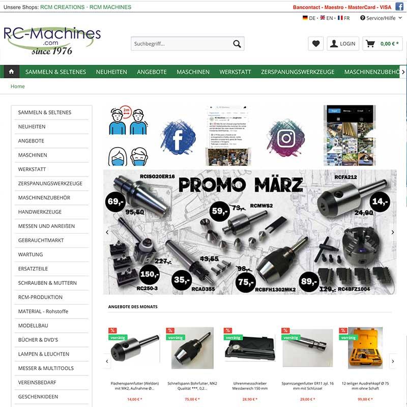 Online Shop von RC-Machines - Referenzen von simpliby