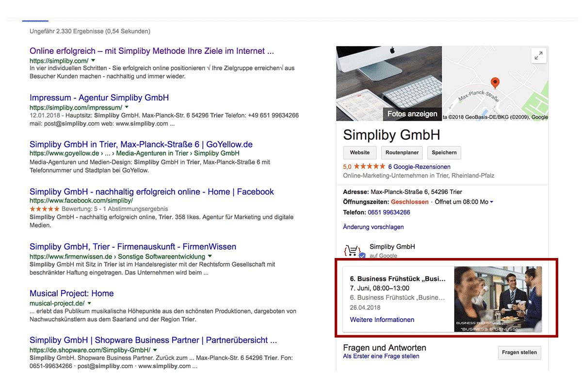 Einen Google My Business Beitrag erstellen