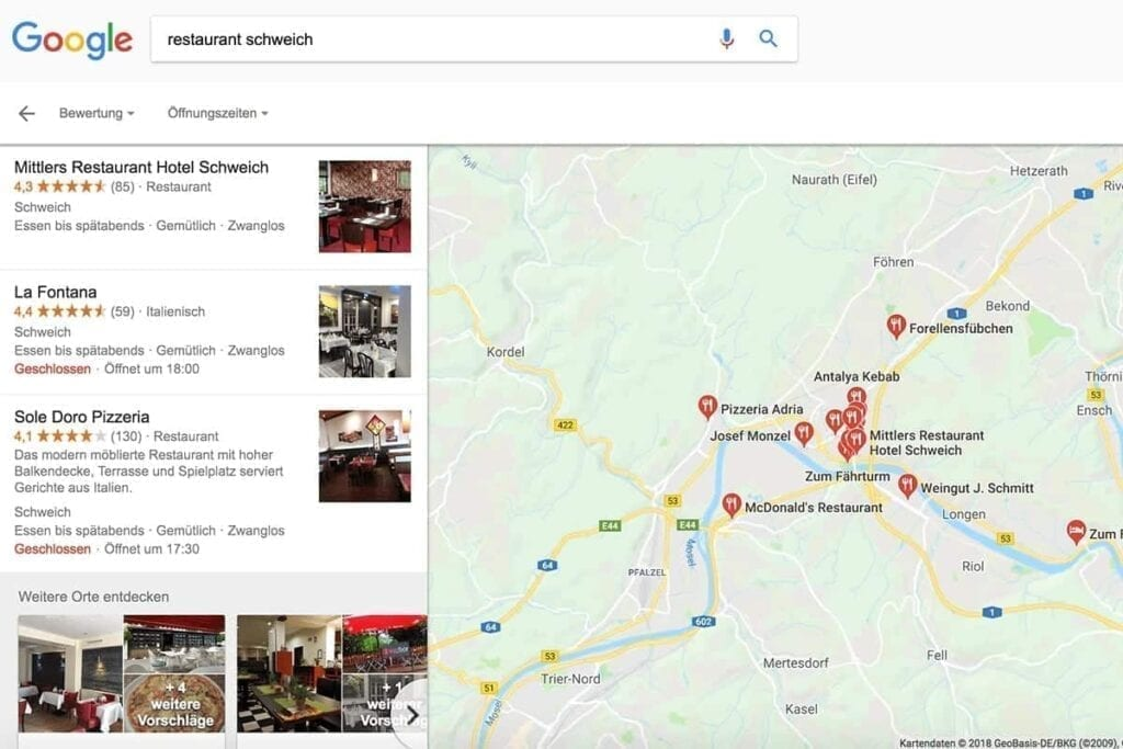 3. Google Maps Karte