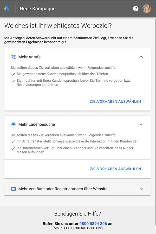 Google Smart Campains - Intelligente Anzeigen für lokale Unternehmen