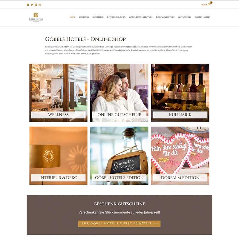 Online Shop von Göbels Hotels - Referenzen von simpliby