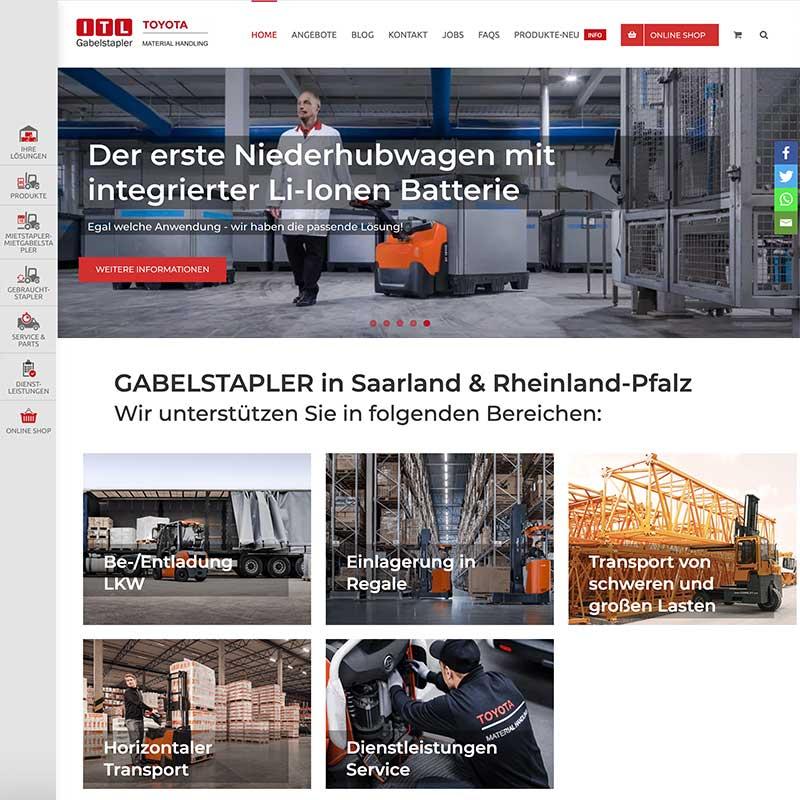 Online Shop von ITL Gabelstapler- Referenzen von simpliby
