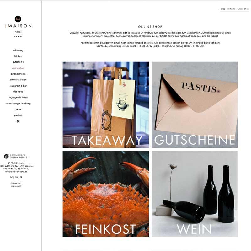 Online Shop von La Maison Hotel - Referenzen von simpliby