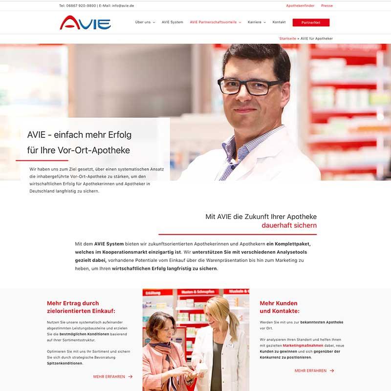 Internetseite von AVIE GmbH - Referenzen von simpliby