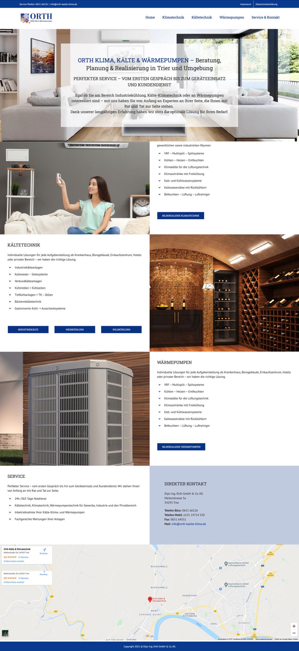 Website Aufbau – One Pager Beispiel