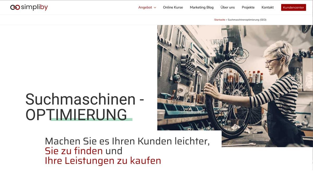 Website Aufbau - Beispiel für Header